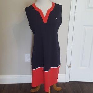 NWOT Nautica v-neck sleeveless shift dress size L